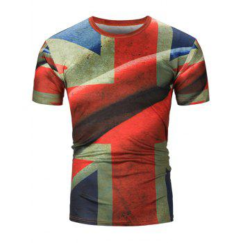 Distressed England Flag Printed Tee