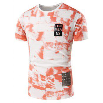 Short Sleeve Tie Dye Graphic Print T-Shirt