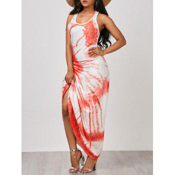 U-Neck Tie Dye Maxi Tank Dress