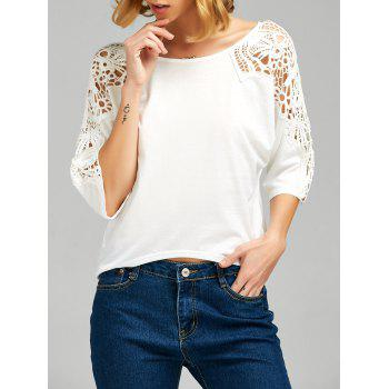 Cutwork Lace Insert T-shirt