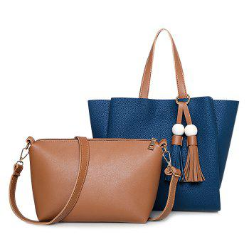 Tassel and Wood Bead Shoulder Bag Set