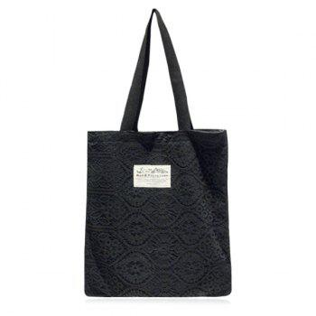 Canvas and Lace Shopper Bag