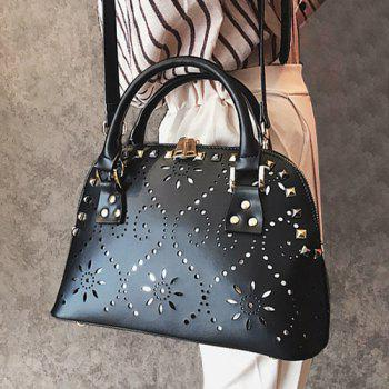 Cut Out Stud Handbag