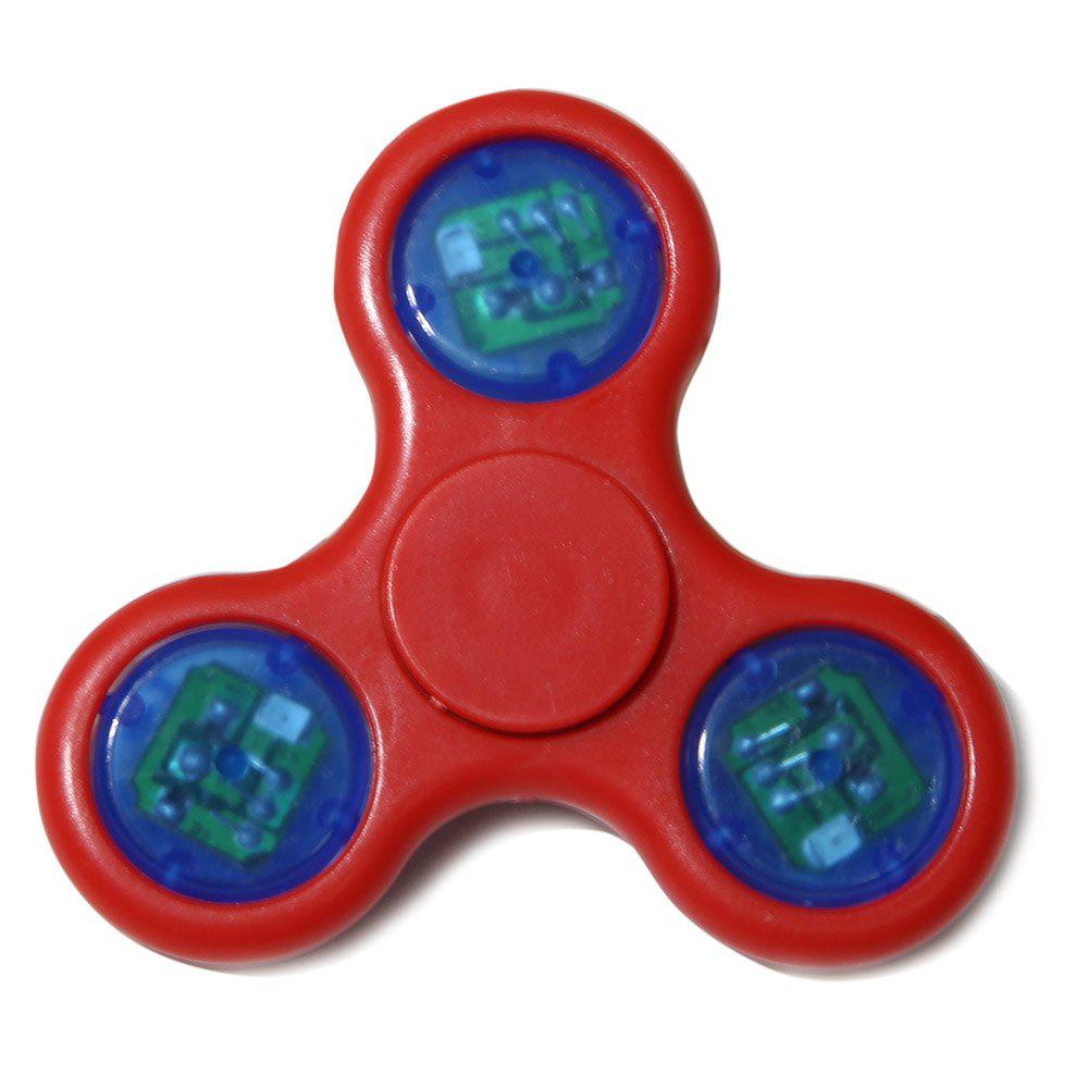 Flash Triangle Gyro Fidget Toy Finger Spinner - Rouge Clair