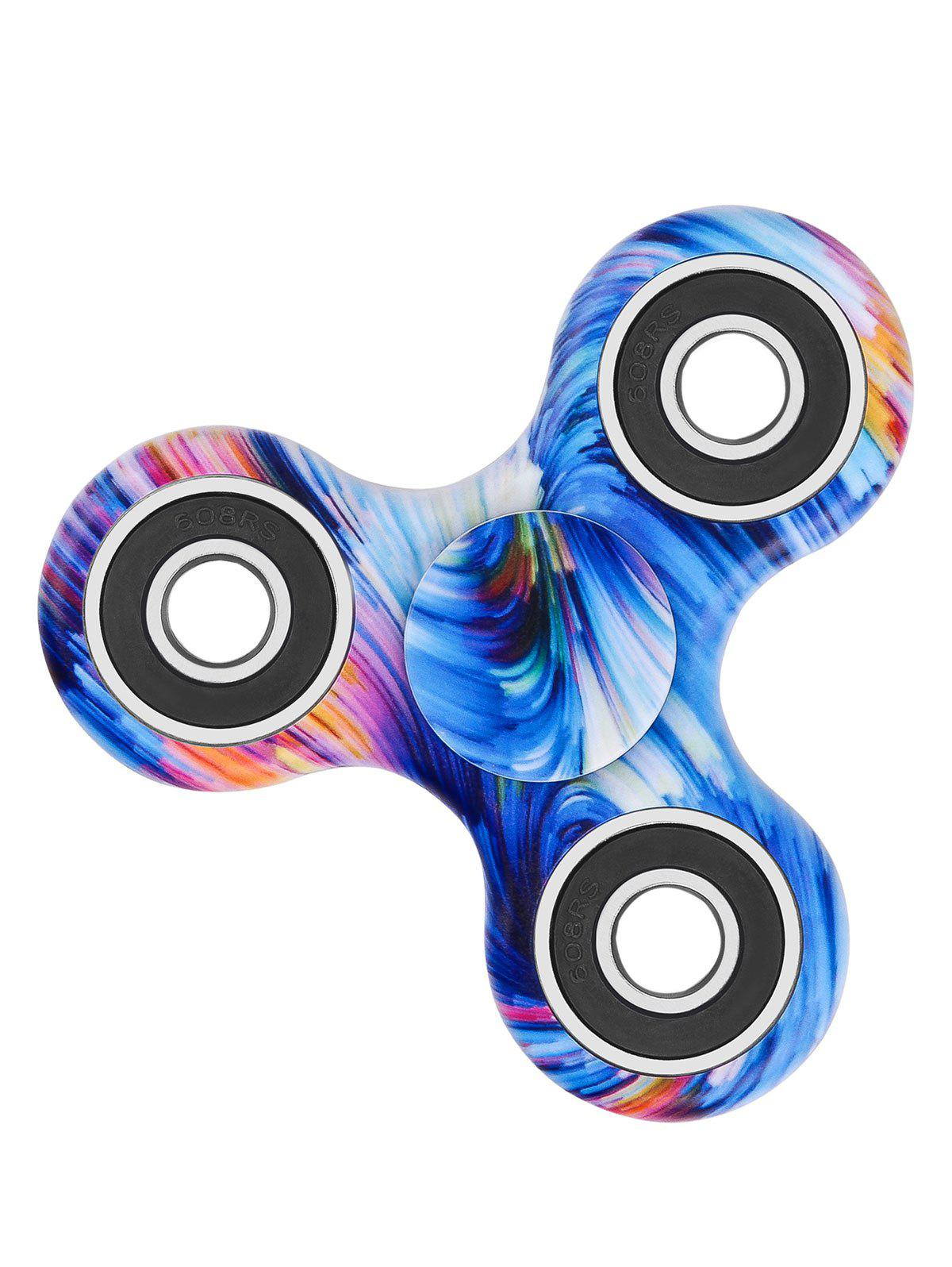Star Sky Print Stress Relief Focus Toy Fidget Spinner - BLUE