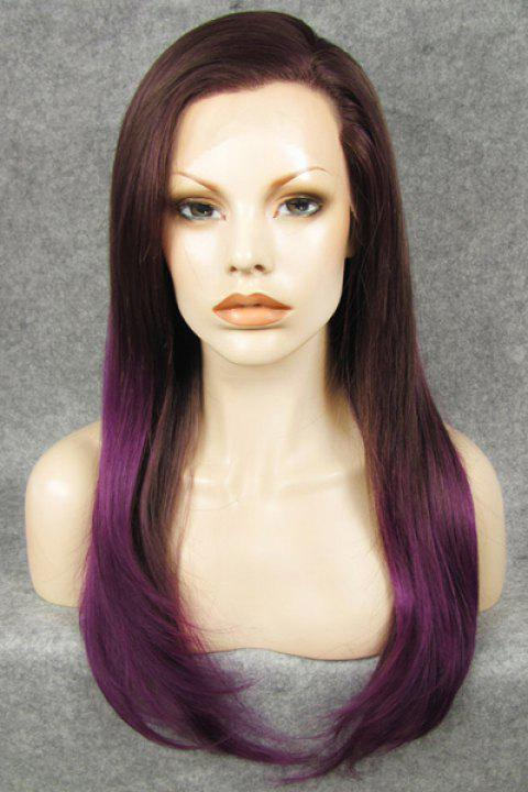 Trendy Purple Ombre Stunning Long Straight Heat Resistant Synthetic Women's Wig - COLORMIX