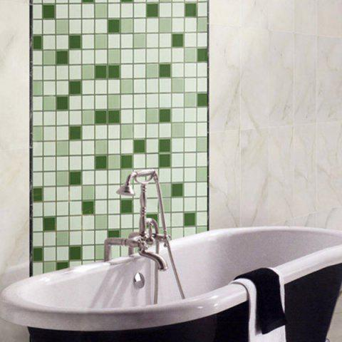 Mosaic Greaseproof Paper Kitchen Wall Stickers - GREEN