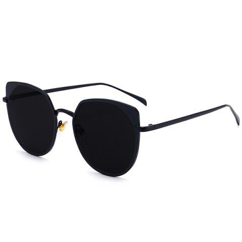 f63a8d489df78 41% OFF  2019 UV Protection Metal Cat Eye Sunglasses In DOUBLE BLACK ...