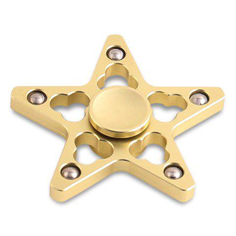 Star Shaped EDC Finger Gyro Stress Reducer Fidget Spinner - GOLDEN 7*7*1.5CM