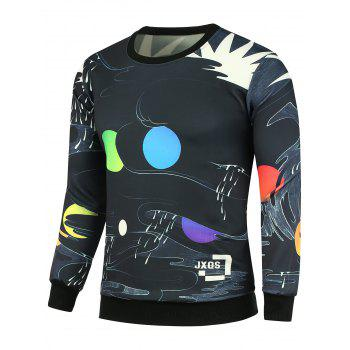 Color Block Printed Graphic Sweatshirts