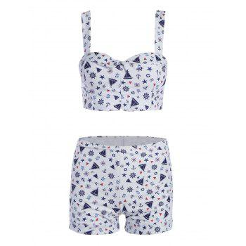 Plus Size High Waist Print Bikini Set