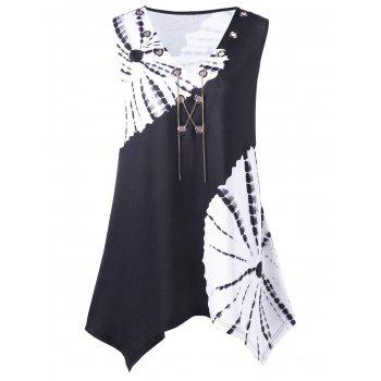 Plus Size Chains Detail Tie Dye T-Shirt