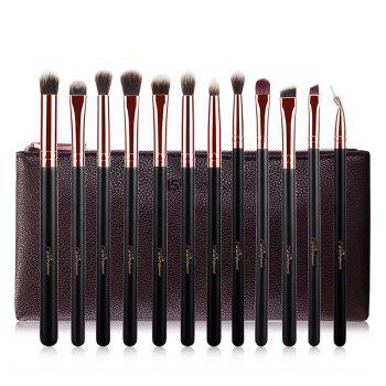 12 Pcs Eye Fiber Makeup Brushes Kit