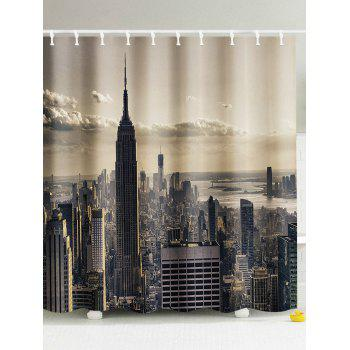 Central City Waterproof Fabric Shower Curtain