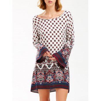 Bohemian Printed Long Sleeve Tunic Dress