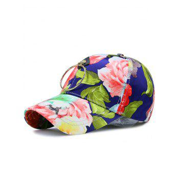 Floral Printing Wash Painting Metal Circle Hat