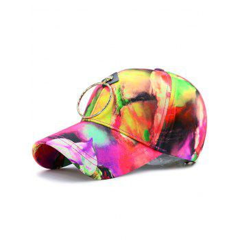 Digital Inkjet Flowers Metallic Circle Baseball Hat