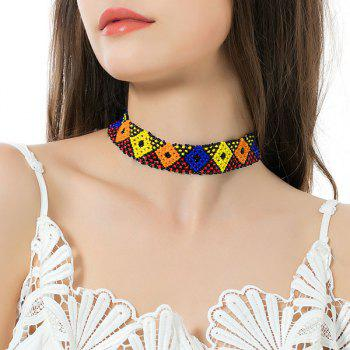 Beads Flower Geometric Elastic Choker Necklace