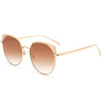 UV Protection Metal Cat Eye Sunglasses
