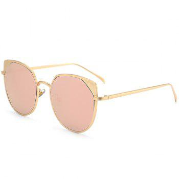 Mirror Reflective Metallic Cat Eye Sunglasses