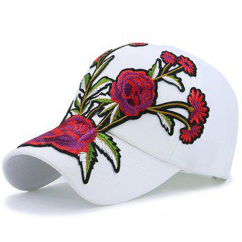 Showy Blooming Flowers Embroidered Baseball Hat