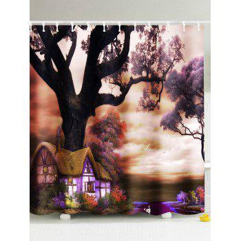 The Dreamy Yard Waterproof Fabric Shower Curtain - COLORMIX W71 INCH * L79 INCH