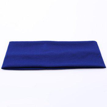Sport Hip-Pop Wide Plain Elastic Headband - BLUE BLUE