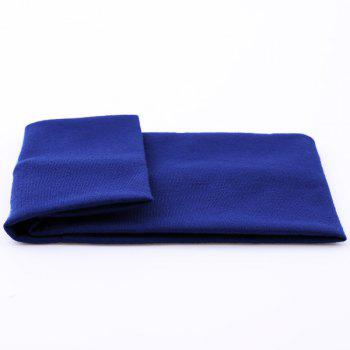 Sport Hip-Pop Wide Plain Elastic Headband -  BLUE