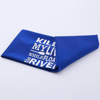 Hip-Pop Letters Printing Elastic Wide Headband -  ROYAL