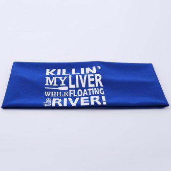 Hip-Pop Letters Printing Elastic Wide Headband - ROYAL ROYAL