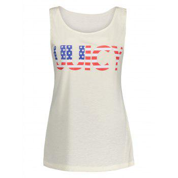 American Flag Print UUICY Graphic Tank Top