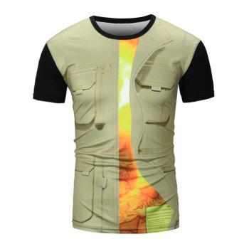 Pocket Vest 3D Print Graphic T-Shirt