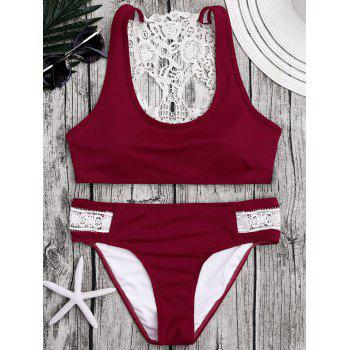 Crochet Panel Padded Bikini Set - XL XL