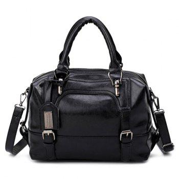 Buckle Straps PU Leather Handbag