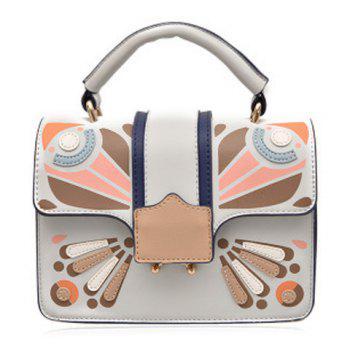 Cross Body Butterfly Printed Handbag - GRAY GRAY