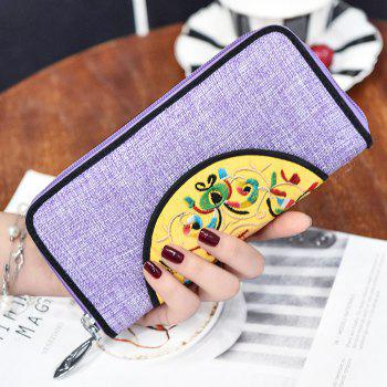 Zip Around Ethnic Embroidery Wallet