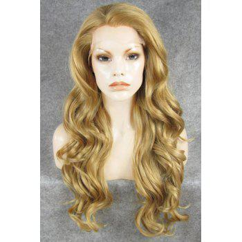 Trendy Fluffy Stunning Blonde Long Wavy Heat Resistant Synthetic Women's Wig