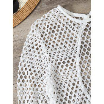 Openwork See-Through Bodysuit Cover Up - M M