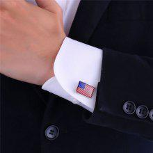 Patriotic American Flag Pattern Cufflinks