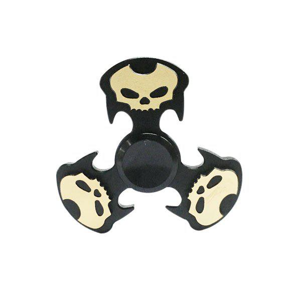 Cool Skulls Focus Toy Metal Hand Fidget Spinner - Noir