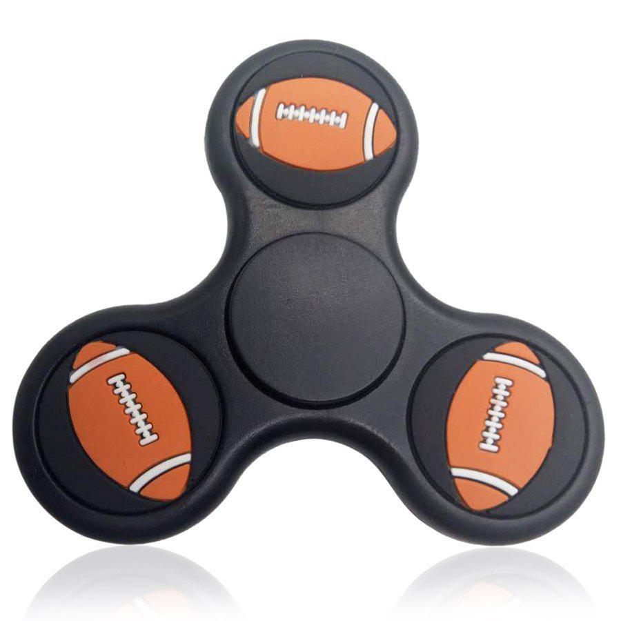 Rugby Pattern Triangle Fidget Finger Spinner - BLACK