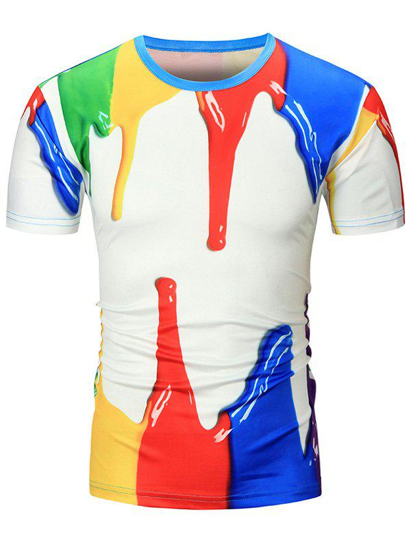 Paint Dripping 3D Print T-Shirt