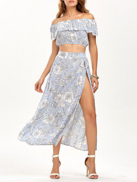 Ruffle Top with Tube Top with Skirt - BLUE XL