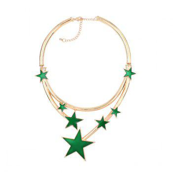 Star Statement Alloy Necklace