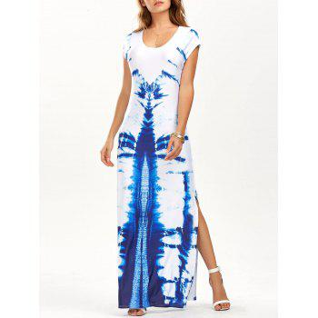 Tie Dye High Slit Maxi Dress