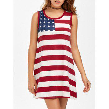 American Flag Patriotic Mini Tank Dress