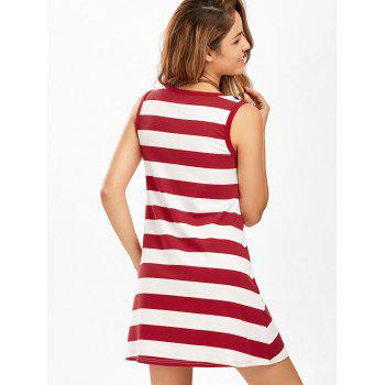 American Flag Patriotic Mini Tank Dress - COLORMIX COLORMIX