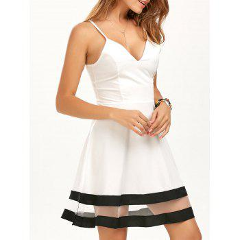 V Neck Mini Cami Skater Dress