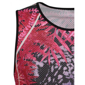 3D Animal Printed Mesh Tank Top - COLORMIX XL