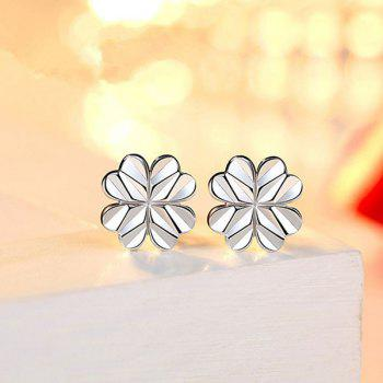 Love Heart Clover Stud Tiny Earrings